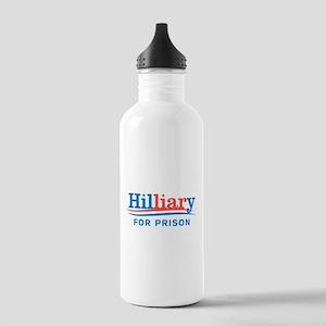 Liar Hillary For Prison Water Bottle