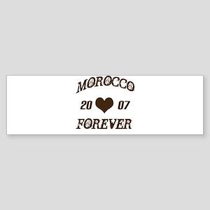 Morocco Forever Bumper Sticker