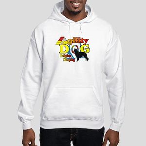 Belgian Sheepdog Agility Hooded Sweatshirt