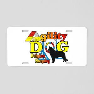 Belgian Sheepdog Agility Aluminum License Plate