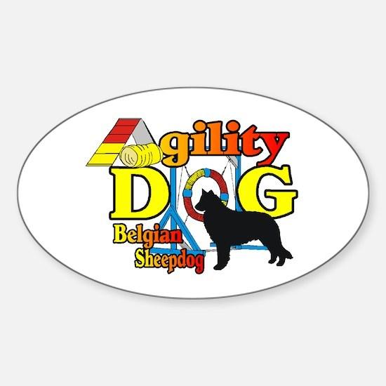 Belgian Sheepdog Agility Sticker (Oval 10 pk)