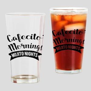 Cafecito Mornings Mojito Nights Drinking Glass