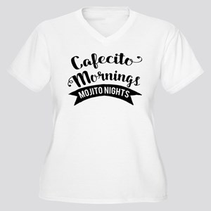 Cafecito Mornings Mojito Nights Plus Size T-Shirt