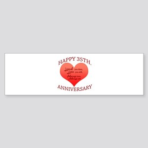 Happy 35th. Anniversary Bumper Sticker
