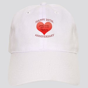 Happy 35th. Anniversary Cap