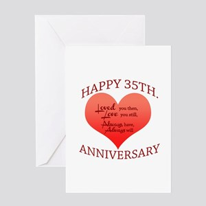 Happy 35th. Anniversary Greeting Cards