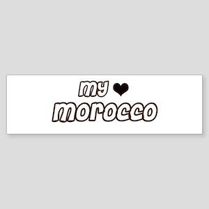 my heart Morocco Bumper Sticker