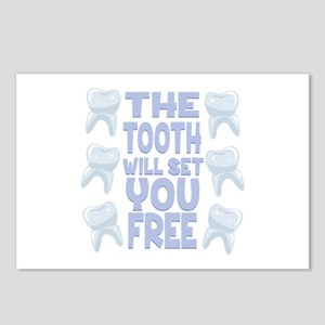 Tooth Set You Free Postcards (Package of 8)