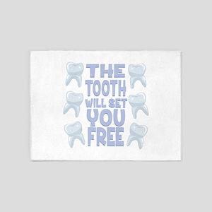 Tooth Set You Free 5'x7'Area Rug