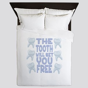 Tooth Set You Free Queen Duvet