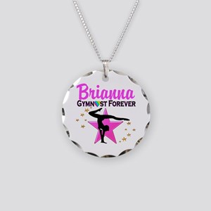 GYMNAST FOREVER Necklace Circle Charm