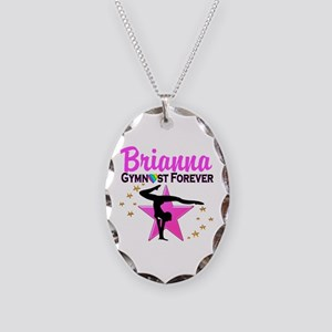 GYMNAST FOREVER Necklace Oval Charm