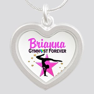 GYMNAST FOREVER Silver Heart Necklace