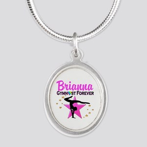 GYMNAST FOREVER Silver Oval Necklace