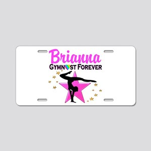 GYMNAST FOREVER Aluminum License Plate