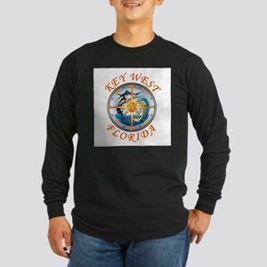Key West Fish With Compass And Long Sleeve T-Shirt