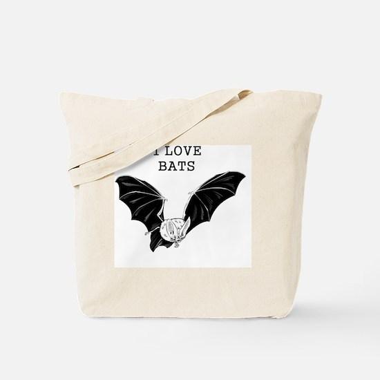 I Love Bats Tote Bag
