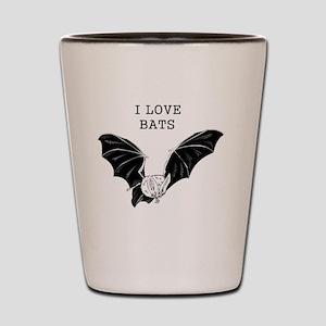 I Love Bats Shot Glass