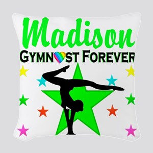 GYMNAST FOREVER Woven Throw Pillow