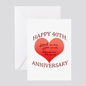 Happy 40th. Anniversary Greeting Cards