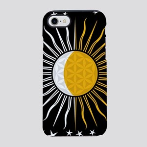 Lunar-Sol Flower Of Life Sun iPhone 8/7 Tough Case