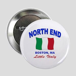 """North End Boston,MA 2.25"""" Button"""