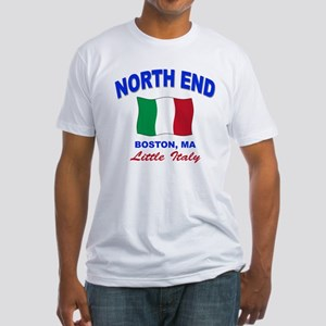 North End Boston,MA Fitted T-Shirt