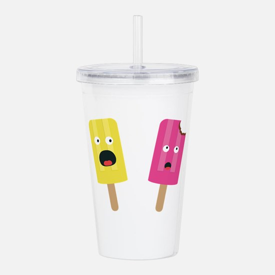 Colorful Popsicles Acrylic Double-wall Tumbler