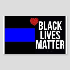 Black & Blue love line Sticker