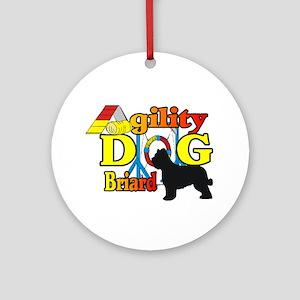 Briard Agility Round Ornament