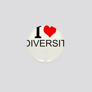I Love Diversity Mini Button