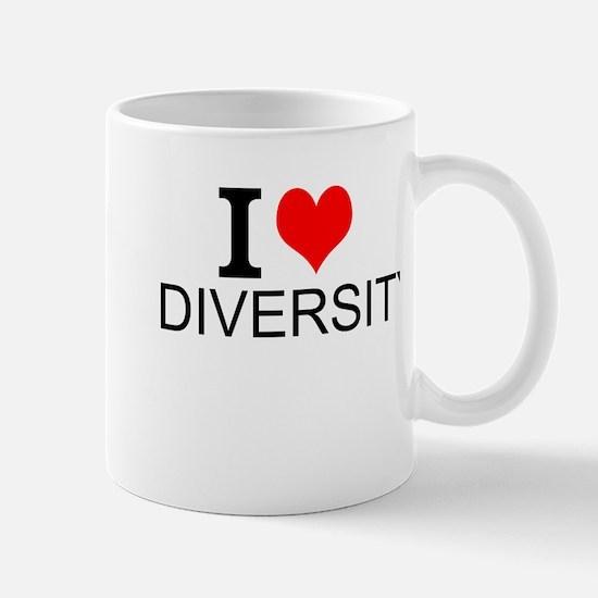 I Love Diversity Mugs