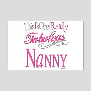 Fabulous Nanny Mini Poster Print