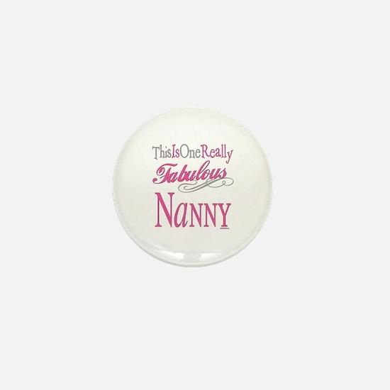 Fabulous Nanny Mini Button
