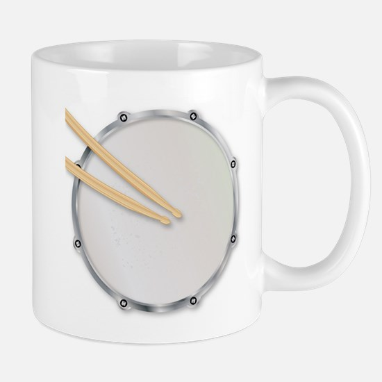 Drumskin and Sticks Mugs