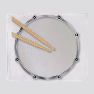 Drumskin and Sticks Throw Blanket