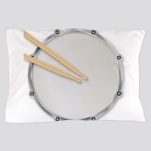 Drumskin and Sticks Pillow Case