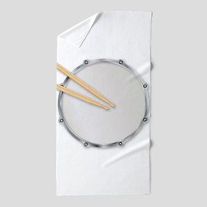 Drumskin and Sticks Beach Towel
