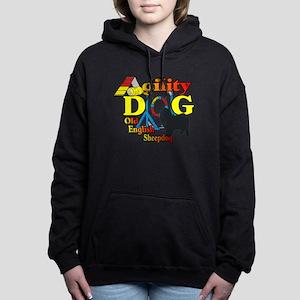 Old English Sheepdog Agi Women's Hooded Sweatshirt