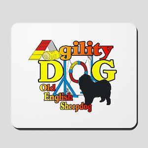 Old English Sheepdog Agility Mousepad