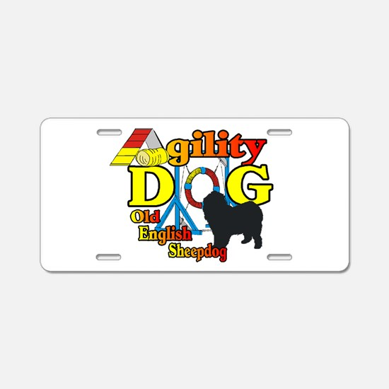 Old English Sheepdog Agilit Aluminum License Plate