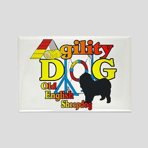 Old English Sheepdog Ag Rectangle Magnet (10 pack)
