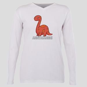 Auntasaurus Plus Size Long Sleeve Tee
