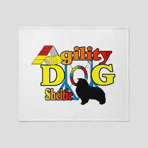 Sheltie Agility Throw Blanket