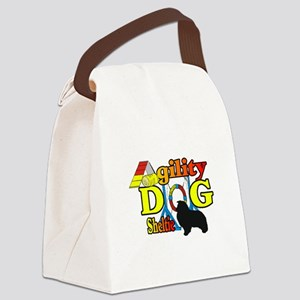 Sheltie Agility Canvas Lunch Bag