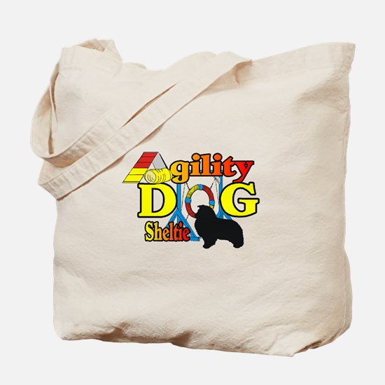 Sheltie Agility Tote Bag