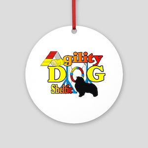 Sheltie Agility Round Ornament