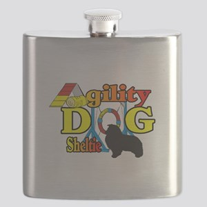 Sheltie Agility Flask