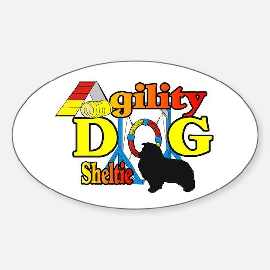Sheltie Agility Sticker (Oval 10 pk)