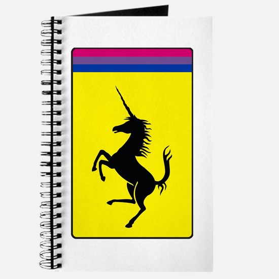 Bisexual Pride Prancing Unicorn Journal